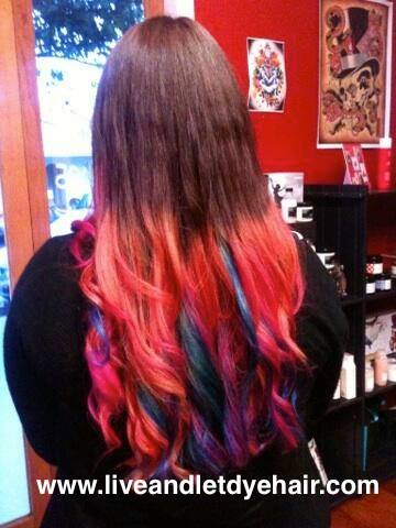 Rainbow Hair by Sarah at Live & Let Dye
