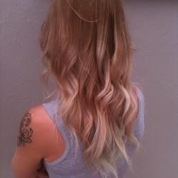 Dark to light blonde Ombre